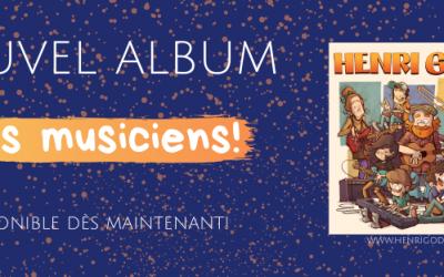 Henri Godon  est de retour aujourd'hui avec son troisième album!